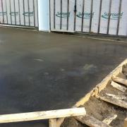 Coulage de béton pour garage