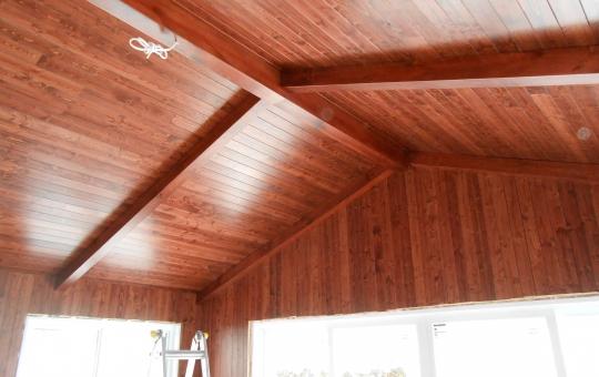 Plafond en bois - Jeff Tech Rimouski